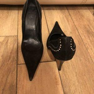 Mayis Woman Black suede pump shoe size 35
